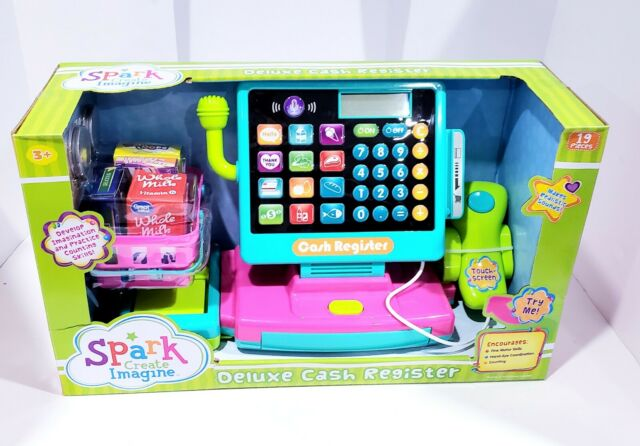Spark Create Imagine Deluxe Cash Register Play Set 19 Pieces New For Sale Online