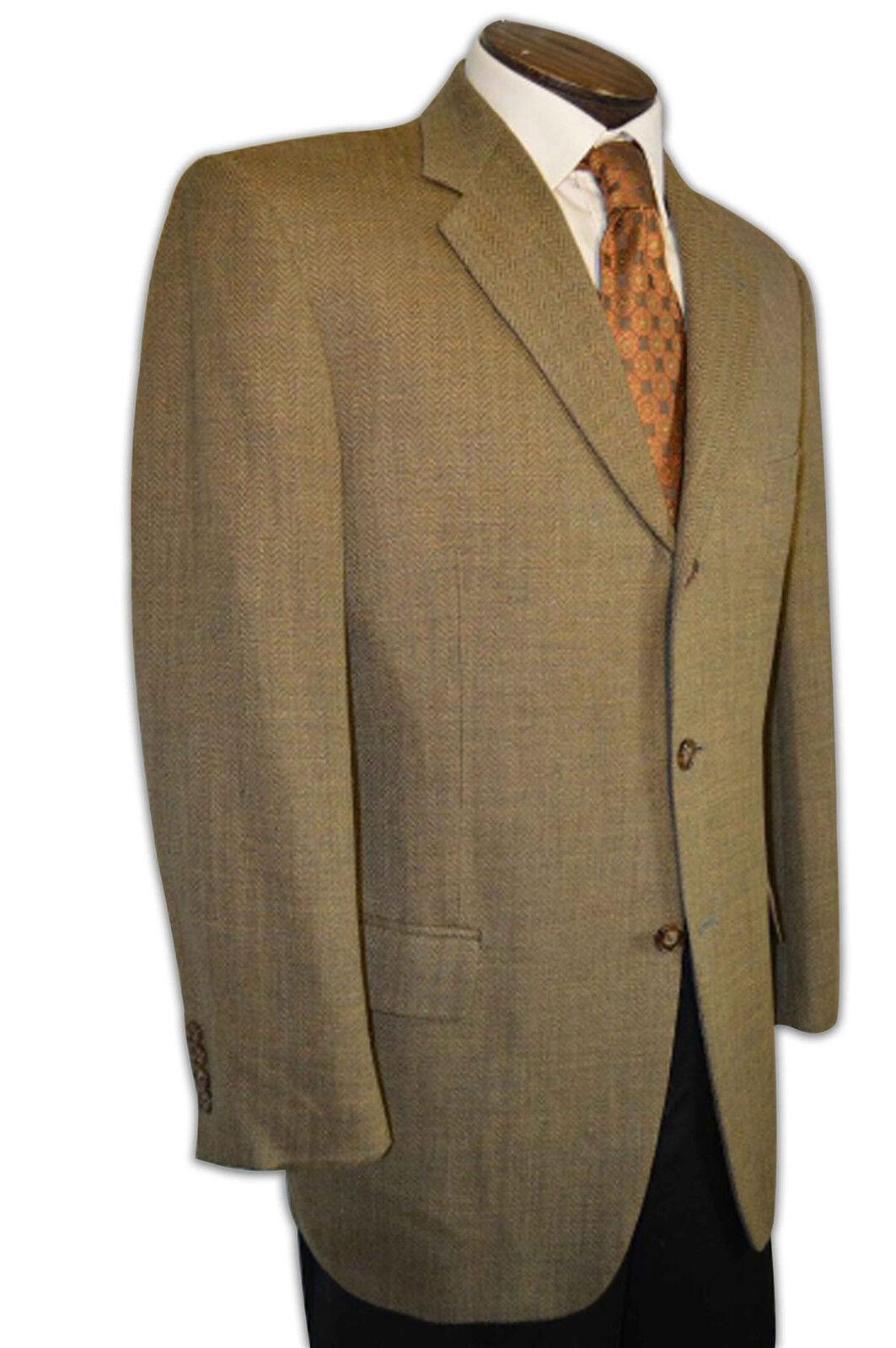 Joseph Abboud Linen Blend Lt Brown Tan 3 Button Sport Coat size 40R C149