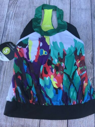 NEW Moxie Multicolor Sz S OUTRIDE Cycling Jersey T-Back Tank Top $69