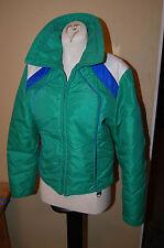 Vintage 1970s Women's Ski Jacket Size M Petite Green Unique Hong Kong Classic