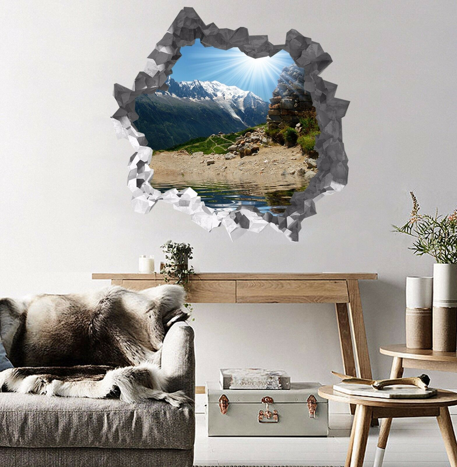 3D Montagna 20 Parete Murales Parete Adesivi Decal Sfondamento AJ WALLPAPER IT