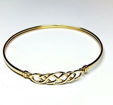 9ct yellow gold Celtic slave bangle fully  Hallmarked