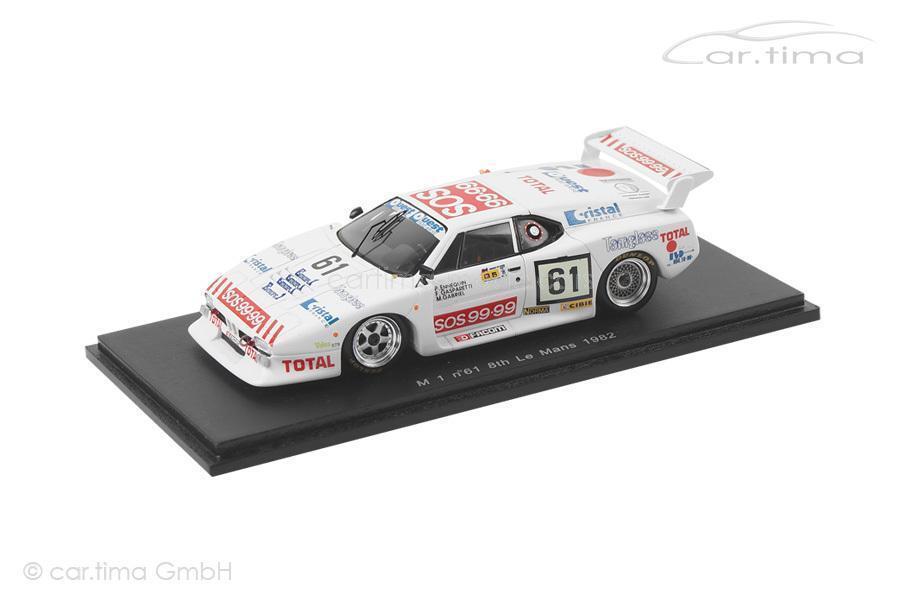 BMW m1 - 24h Le Mans 1982-ennequin Gabriel Gasparetti-spark - 1 43