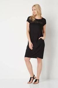 Roman-Originals-Black-Lace-Insert-Shift-Dress-RRP-30-SS16