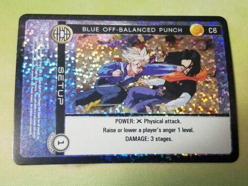 Dragon Ball Z DBZ CCG TCG Custom Panini Proxy Foil 6 Blue Off-Balanced Punch