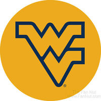 West Virginia Mountaineers Wvu Rr 4 Round Vinyl Magnet Auto Home University Of