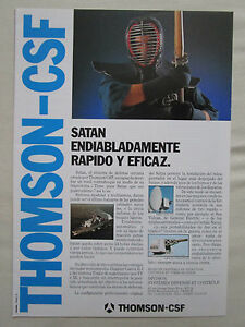 9-1987-thomson-CSF-pub-satan-marine-defense-kendo-sword-original-spanish-ad