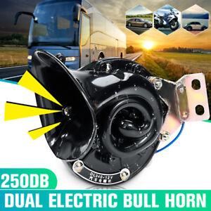 12V-Loud-250dB-Electric-Bull-Horn-Air-Horn-Raging-Sound-For-Car-Truck-Boat
