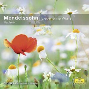 LIEDER-OHNE-WORTE-CHRISTOPH-ESCHENBACH-MENDELSSOHN-CD-NEW