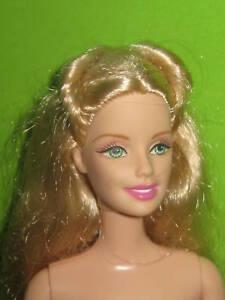 Mattel Barbie Doll Blonde Hair PALE SKIN DARK LIPS Nude