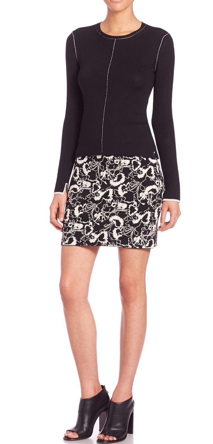 325 NWT Rag & Bone Liberty Ivory Floral-Print Skirt sz XXS