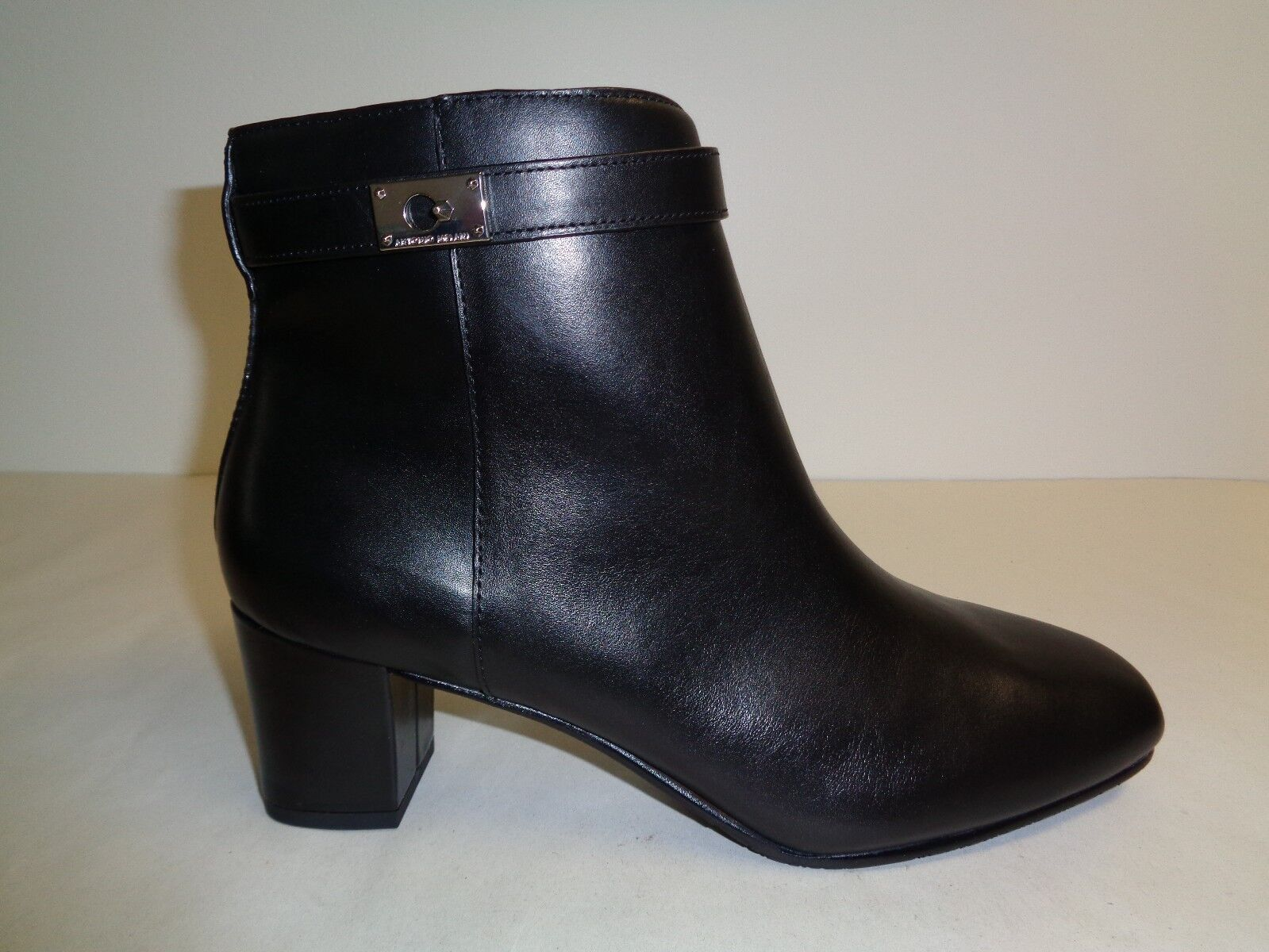 Antonio Melani Size 9.5 M HARDINE Black Leather Ankle Boots New Womens Shoes