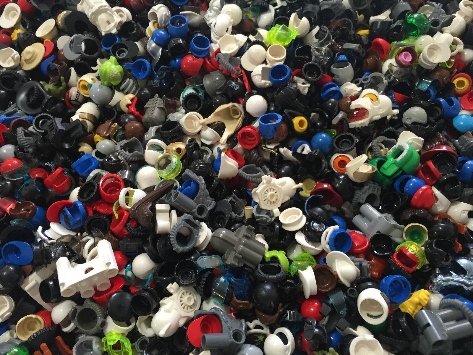 LEGO - Minifigure Hat Lot of 100 100 100 Hats Helmets Hair Great Variety 3f31f2