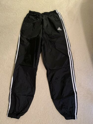 Adidas Nylon Trackpants Windpants Men's Large Blac