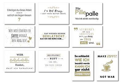 10er Postkarten Set Work Zum Thema Kollegen Arbeit Studium Lustige Sprüche Ebay