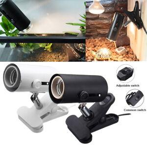 Aquarium-Reptile-Emitter-Heat-Light-Holder-Clip-on-Socket-Adapter-Lamp