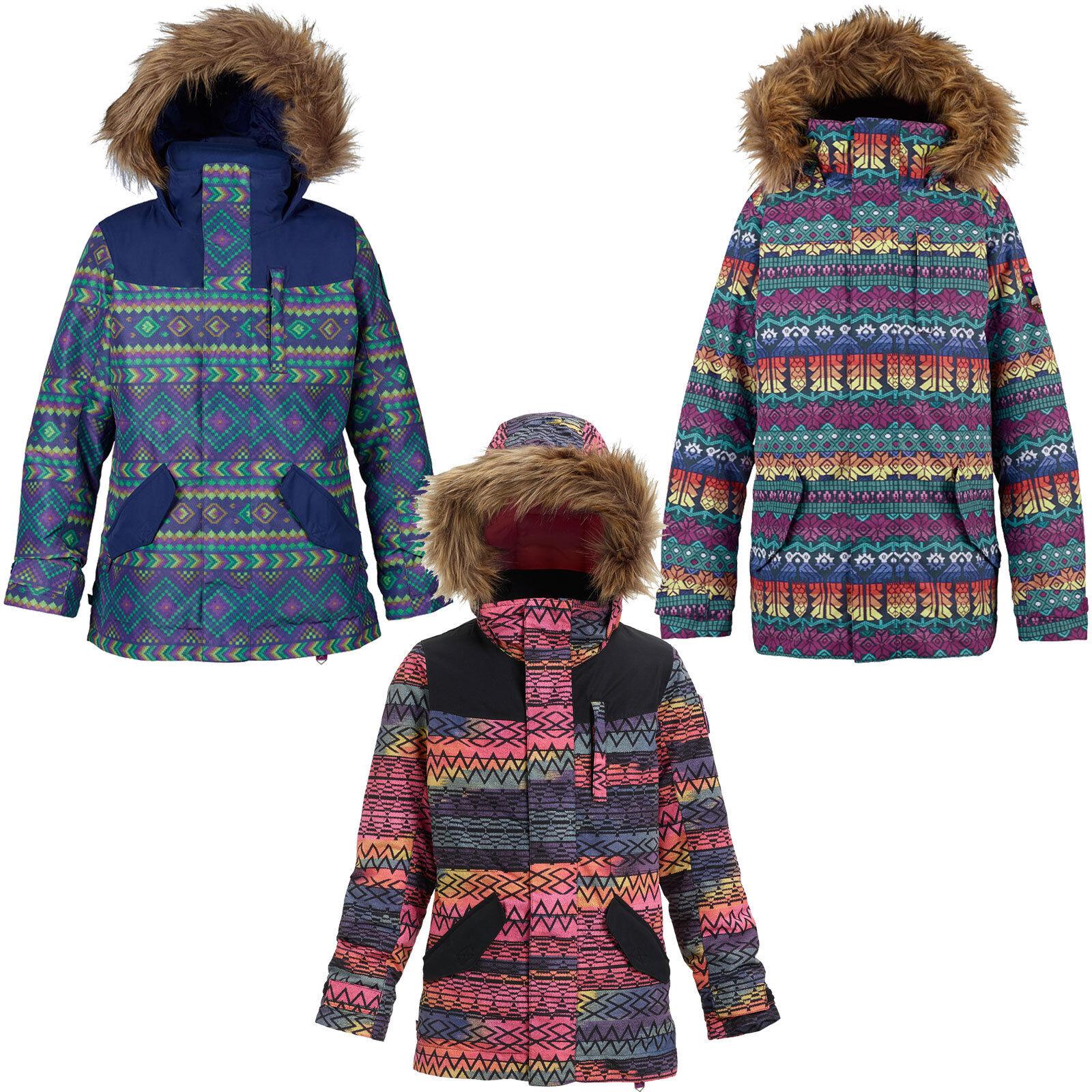 Burton Aubrey Chaqueta Parka Infantil de Snowboard Esquí Invierno Inca