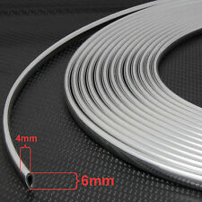 3m Size- 6mm x 4mm u-profile Chrome Car Edge Guard Moulding Trim Molding Strip