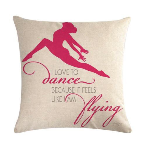 """Art Ballet Girl 18/"""" Cotton Linen Throw Pillow Case Cushion Cover Home Decor"""