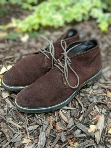 Nordstrom 1901 Men Dark Brown Suede Chukka Desert