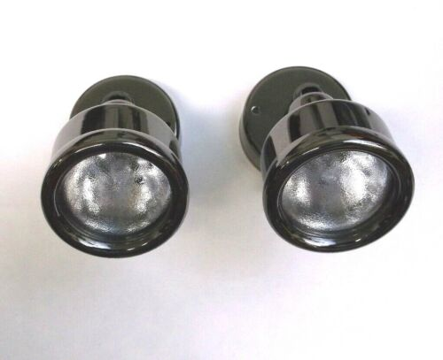 2 ITC 12 volt Black Platinum LED RV Reading Lamps