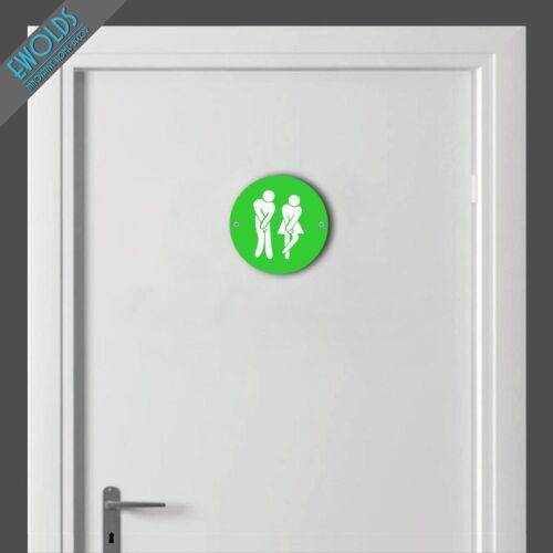 """Unisex Toilet Sign /""""Impatient/""""10cm diain 16x16 colours availFREE P/&P"""