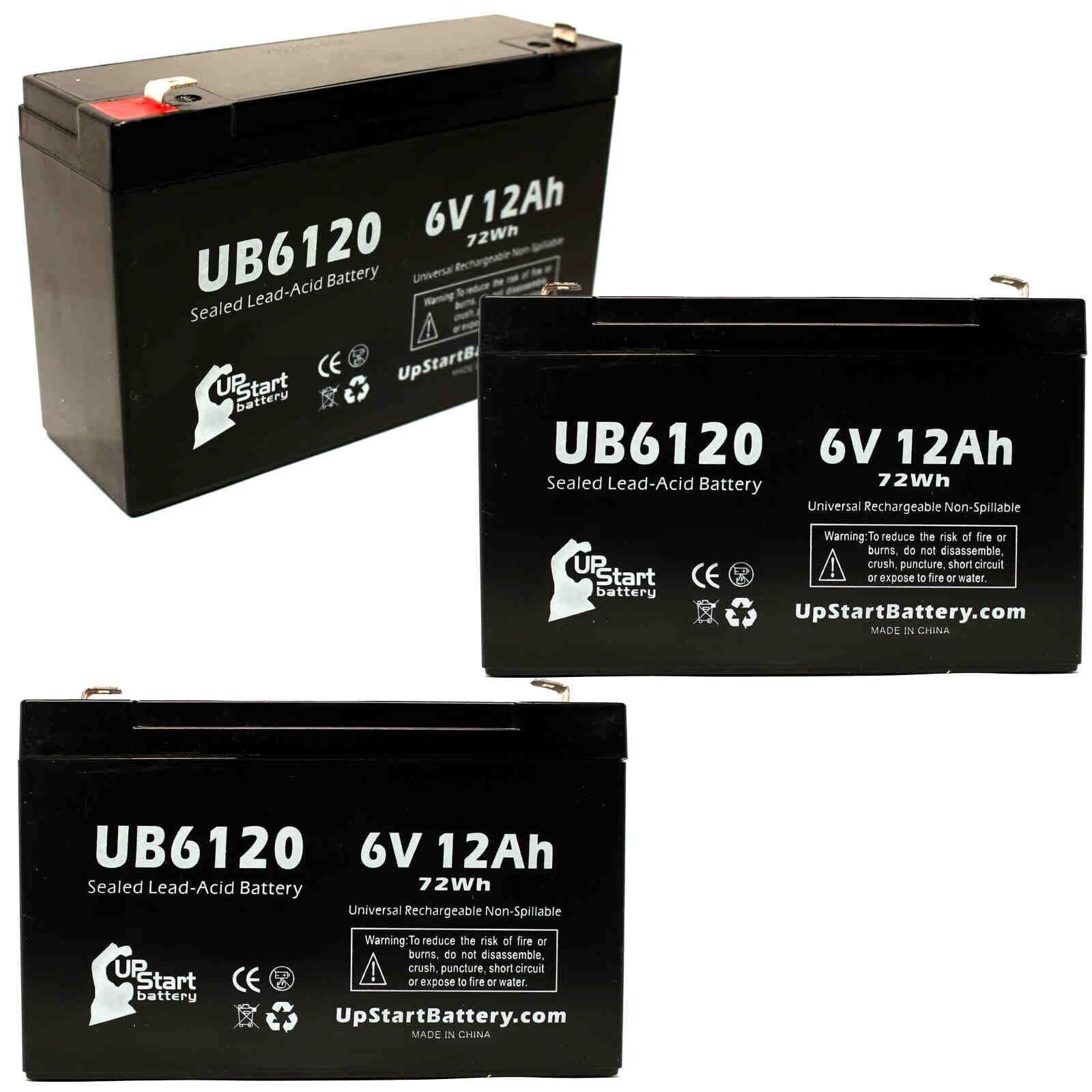 3x 6V 12Ah Sealed Lead Acid Battery For Tripp-Lite SMART1050 UB6120