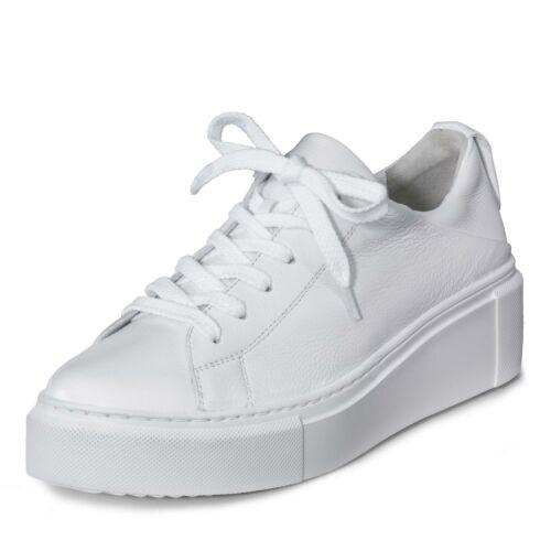 Paul Green Damen Sneaker Halbschuhe Schnürschuhe Plateau-Sneaker Schuhe weiß