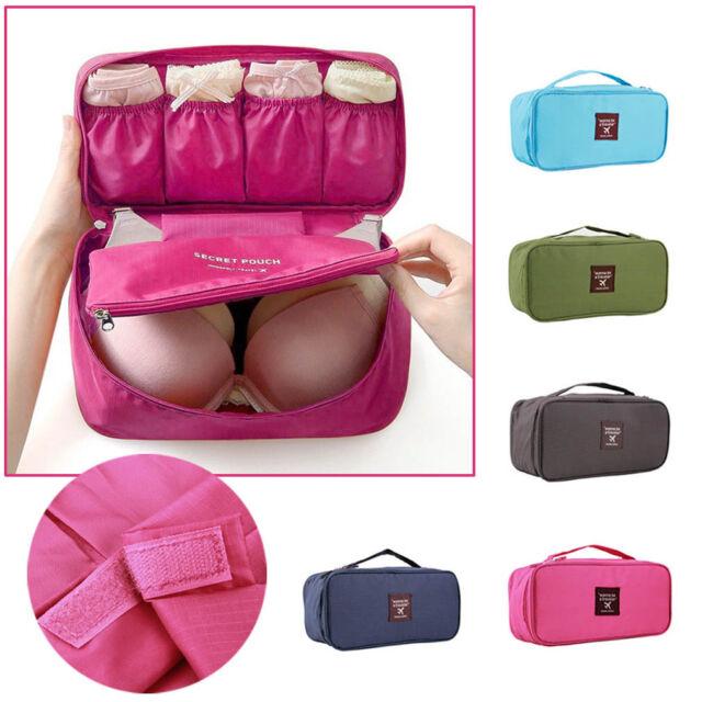 Portable Protect Bra Underwear Lingerie Case Travel Organizer Bag Waterproof BE
