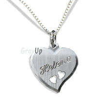Anhänger Herzen und Kette mit Gravur Silber 925    a146v