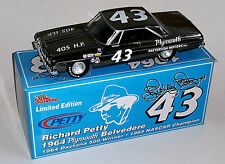 BLACK CHROME 1/24 RICHARD PETTY #43 1964 PLYMOUTH 1 OF ONLY 204 PRODUCED