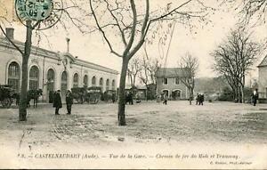 CPA-11-CASTELNAUDARY-VUE-DE-LA-GARE-CHEMIN-DE-FER-DU-MIDI-ET-TRAMWAY-pas-couran