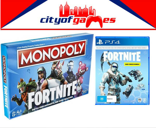 Monopoly Fortnite Edition & Fortnite Deep Freeze Bundle PS4 Game Bundle New