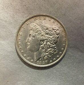 ONE-DOLLAR-1887-MORGAN-ETATS-UNIS-AMERIQUE-MONNAIE-EN-ARGENT