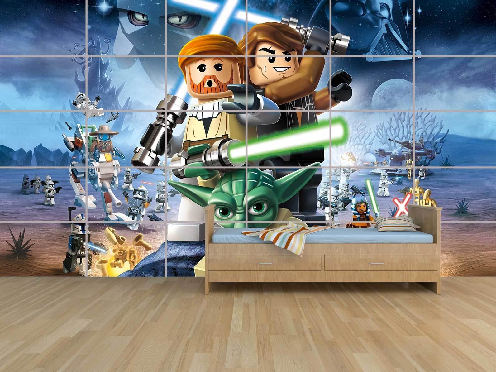 LEGO STAR WARS POSTER MASSIVE HUGE ROOM KIDS SALLE DE JEUX ENFANTS