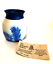 The-Elements-Pottery-Tobacco-Tree-Vase-Cobalt-Blue-Design-4-inches-Tall-Signed thumbnail 2