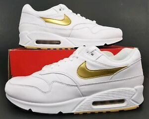 reputable site 02a79 20678 Image is loading Nike-Air-Max-90-1-White-Metallic-Gold-