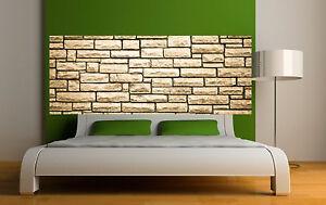 Adesivo testata del letto decorazione da muro murale di pietra ref