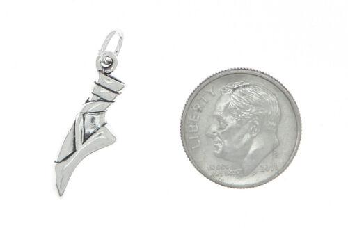 Sterling Silver 3D unique Ballet Slipper Charm Pendentif