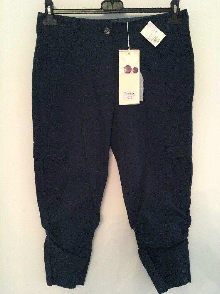 Pantalones cortos Corsario women DIPLODOCUS CPA123N 2860 FR blue Oscuro