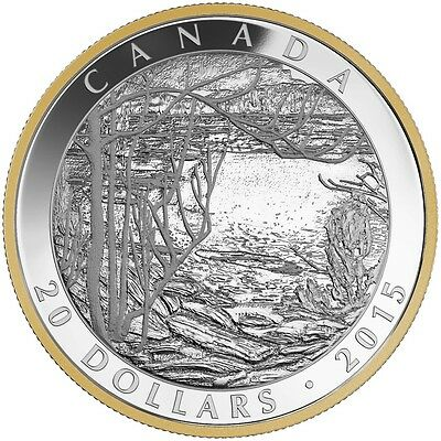 2015 Proof $20 Tom Thomson Spring Ice Canada COIN/&COA ONLY .9999 silver twenty