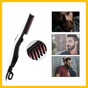 Peigne-Brosse-Electrique-Lisseur-Barbe-Fer-a-Lisser-Cheveux-pour-Homme-Coiffure