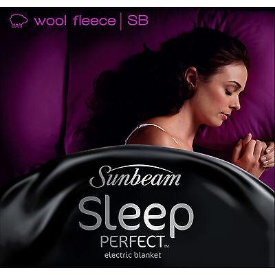 Sunbeam BL5621 Sleep Perfect™ Wool Fleece Heated Blanket - Single Bed