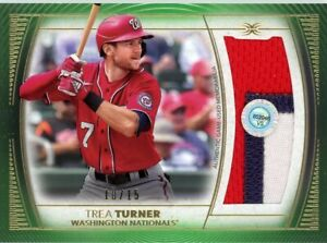 2021 Topps DEFINITIVE BASEBALL JUMBO 3/c PATCH #10/15 NATIONALS Trea Turner