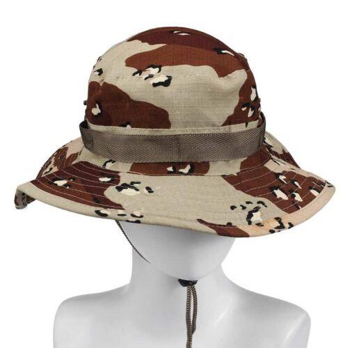 Fashion Summer Bucket Hat Boonie Hunting Fishing Outdoor Wide Cap Brim Military
