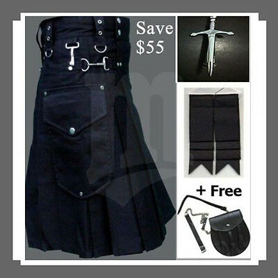 Active men cargo kilt with attractive deal Free Free Free