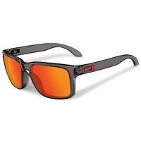 Oakley Holbrook Unisex Oo9244-04 Gray Smoke Frames Ruby Iridium Lenses Sunglasse