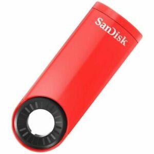 SanDisk Cruzer Dial Flash Drive 16 GB USB Memory Stick  - Red