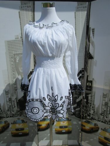Cotton Retro Tunic Womens Enita Hippy Embroidered Look Festival White Av10 Boho 4fFwXUqSW