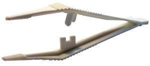 Augusta-Orologiaio-Pinzette-Plastica-125mm-Bianco-Pinze-per-4119